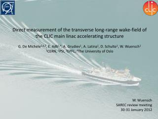 Direct  measurement  of the transverse long-range  wake-field  of