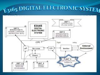 E3165 DIGITAL ELECTRONIC SYSTEM