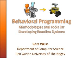 Behavioral  Programming Methodologies  and Tools for  Developing  Reactive Systems