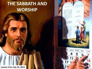THE SABBATH  AND  WORSHIP