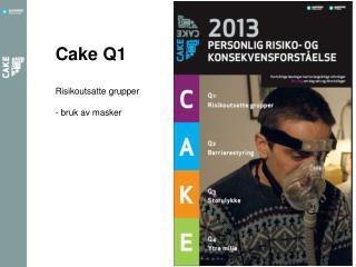 Cake Q1 Risikoutsatte  grupper - bruk av masker