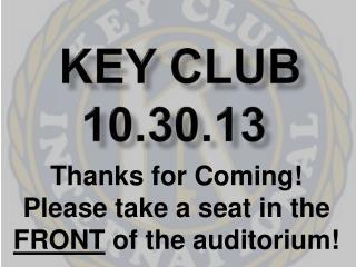 Key Club 10.30.13
