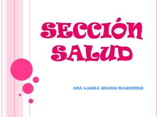 SECCIÓN SALUD