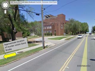 Approximate location of murder victim Gene  Brodie