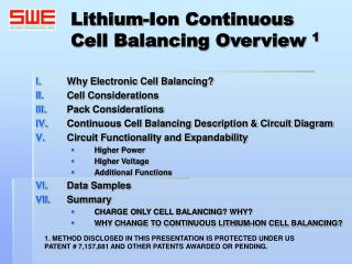 Lithium-Ion Continuous Cell Balancing Overview 1