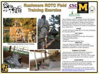 Rushmore ROTC Field Training Exercise