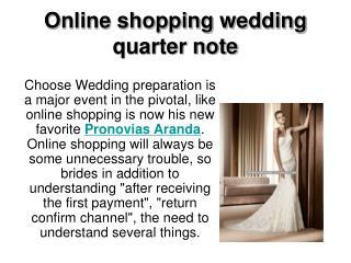 Online shopping wedding quarter note