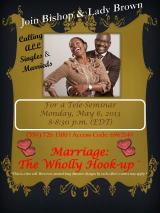 Join Bishop & Lady Brown