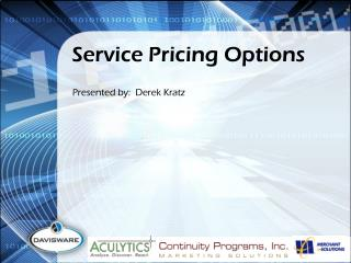 Service Pricing Options