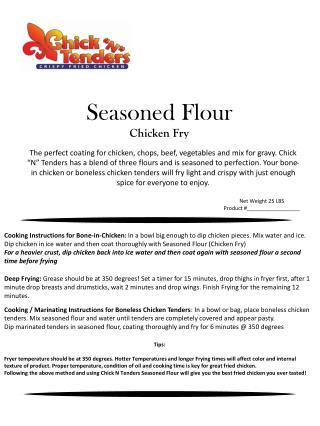 Seasoned Flour Chicken Fry