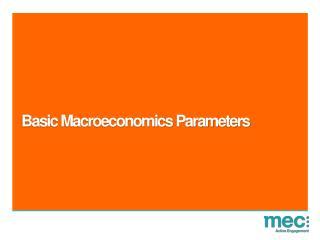 Basic Macroeconomics Parameters
