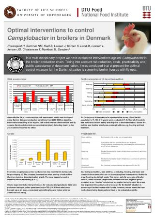 Optimal interventions to control  Campylobacter  in broilers in Denmark