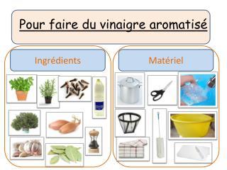 Pour faire du vinaigre aromatisé