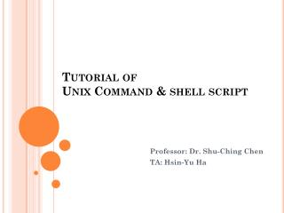 Tutorial of Unix Command & shell  script S  5027