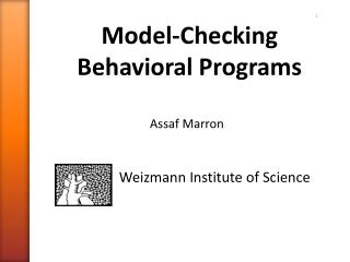 Model-Checking  Behavioral Programs