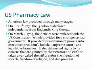 US Pharmacy Law