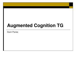 Augmented Cognition TG