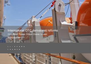 International OTC derivatives reforms