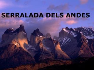 SERRALADA DELS ANDES