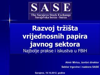 Sarajevo,  19.10.2012. godine