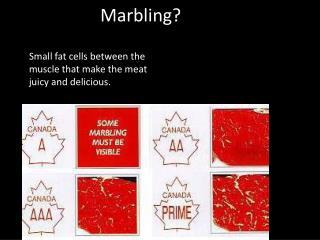 Marbling?
