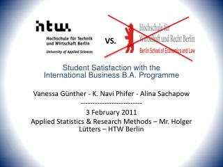 Satisfaction of BIB students at HTW-Berlin with their B.A