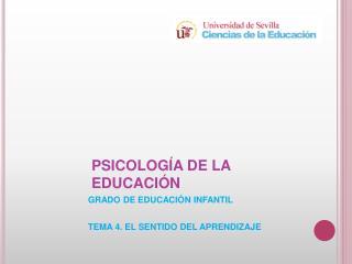 PSICOLOG�A DE LA EDUCACI�N