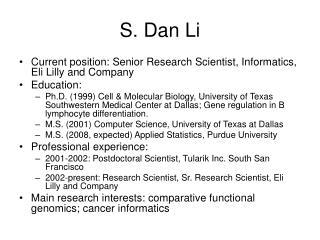 S. Dan Li