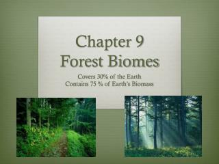 Chapter 9 Forest Biomes