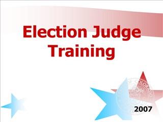 Election Judge Training