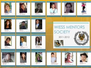 WIESS MENTORS  SOCIETY