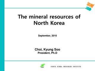 The mineral resources of North Korea