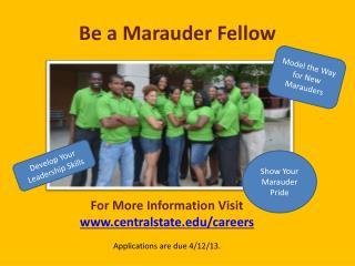 Be a Marauder Fello w