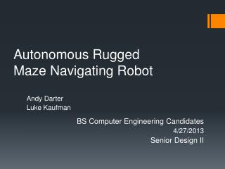 Autonomous Rugged Maze Navigating Robot