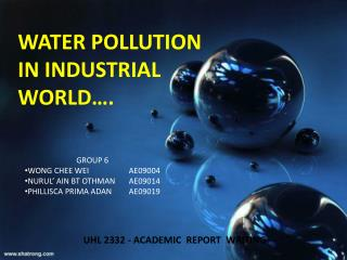 WATER POLLUTION IN INDUSTRIAL WORLD….