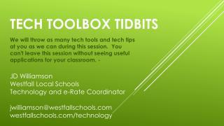 Tech Toolbox Tidbits