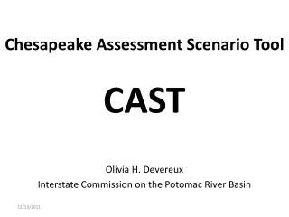 Chesapeake Assessment Scenario Tool CAST