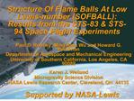 Structure Of Flame Balls At Low Lewis-number SOFBALL: Results from the STS-83  STS-94 Space Flight Experiments