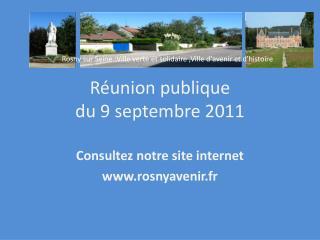 Réunion publique  du 9 septembre 2011