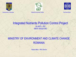 Integrated Nutrients Pollution Control Project LN 4873 – RO WBTF 050327-RO