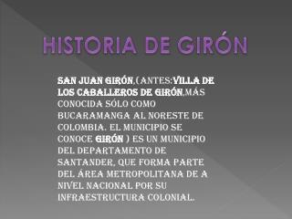 HISTORIA DE GIRÓN