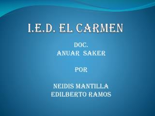 I.E.D. EL CARMEN