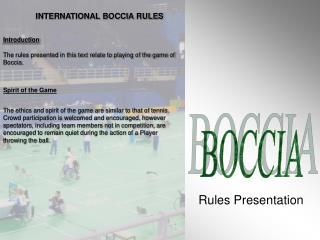 Rules Presentation