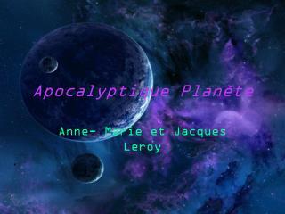 Apocalyptique Planète