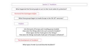 Section 2:  Feudalism