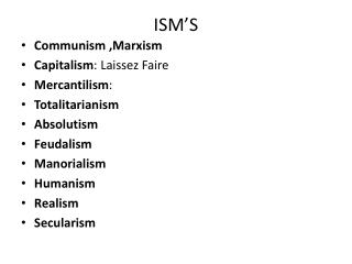 ISM'S