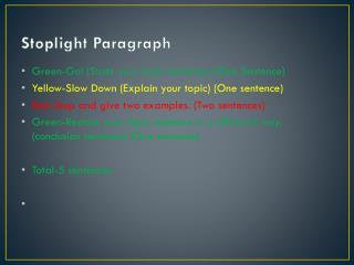 Stoplight Paragraph