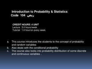 Probability and Random Process