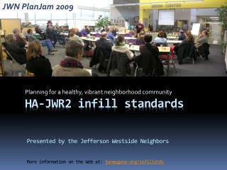 HA-JWR2  infill standards