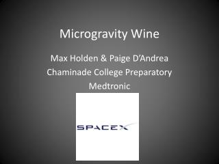 Microgravity Wine